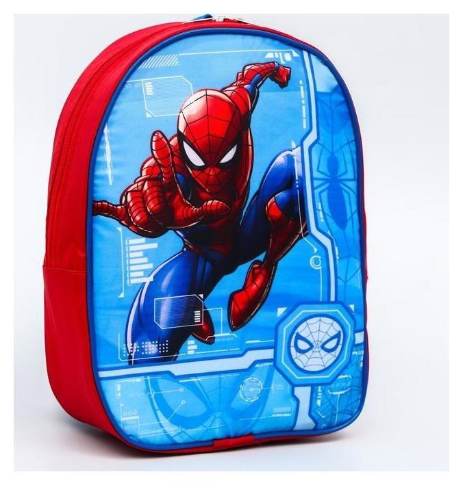 Рюкзак ЧП, 21*9*26, отд на молнии, голубой/красный  Marvel