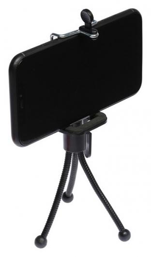 Штатив Luazon настольный, для телефона, компактный, гибкие ножки, чёрный  LuazON