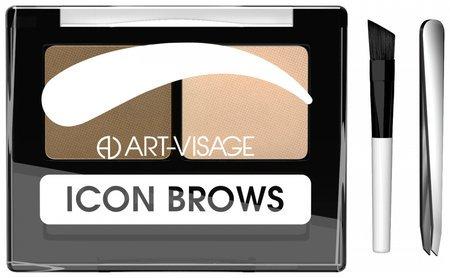"""Двойные тени для бровей """"Icon brows""""  Art visage (Арт визаж)"""