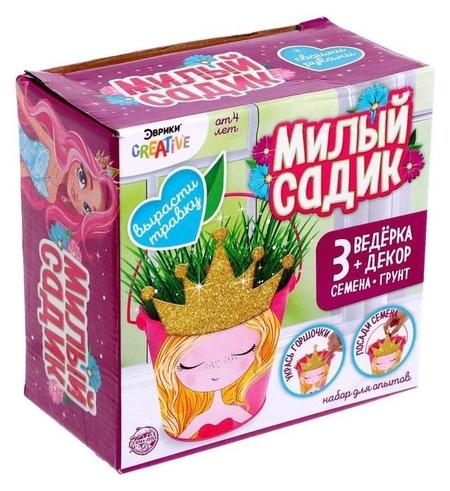Набор для выращивания травки «Милый садик», принцесса  Эврики