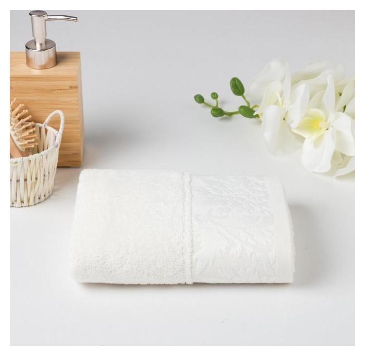Полотенце махровое муза 02-005 70х130 см, белый, хлопок 100%, 400г/м2  Счастье, когда он и она в удовольствие...