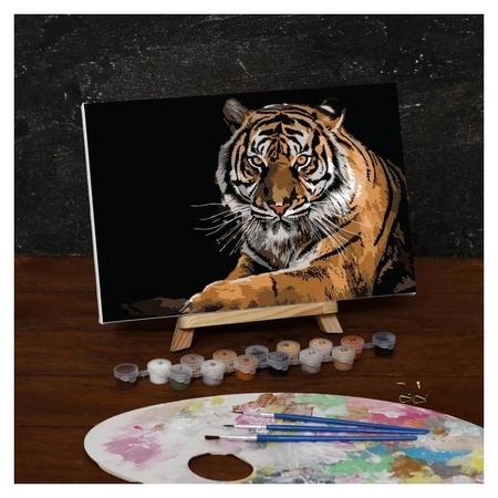 Картина по номерам на холсте с подрамником «Тигр», 30х20 см  Школа талантов