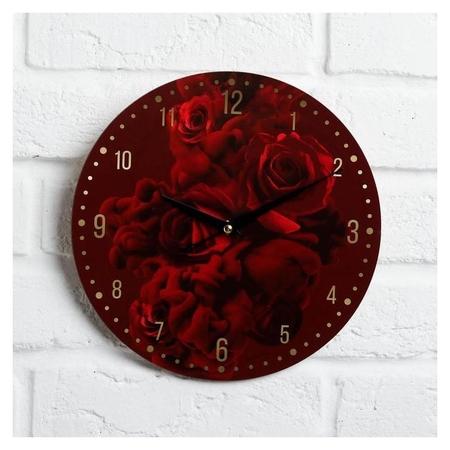 """Часы дерево настенные """"Розы""""  NNB"""