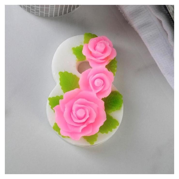 Фигурное мыло Восьмерка с розами КНР