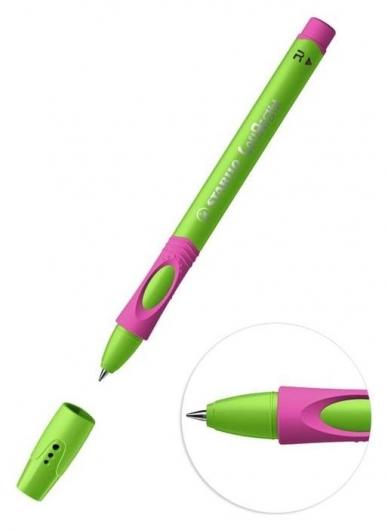 Ручка шариковая Stabilo Leftright для правшей, 0,8 мм, зелено-малиновый корпус, стержень синий  Stabilo