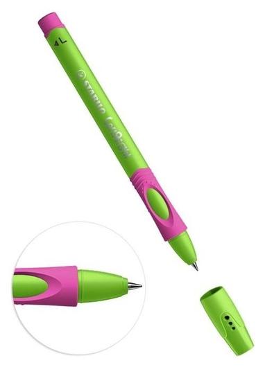 Ручка шариковая Stabilo Leftright для левшей, 0,8 мм, зелено-малиновый корпус, стержень синий  Stabilo