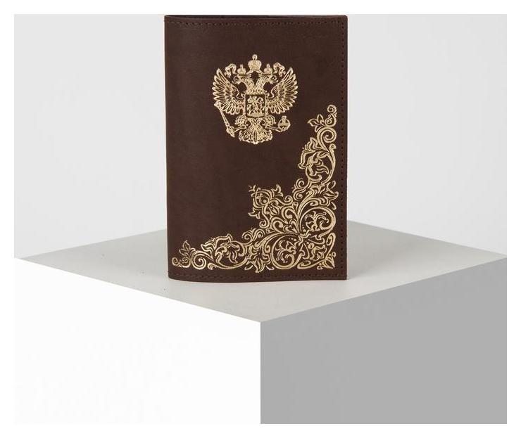 """Обложка для паспорта, 9,5*0,3*13,5 """"Народная"""", коричневый  NNB"""