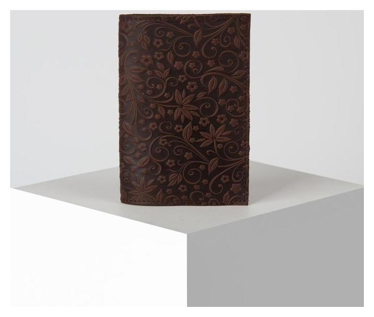 Обложка для паспорта Flowers, коричневый  NNB