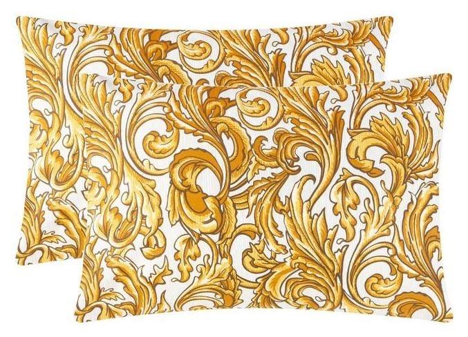 Комплект наволочек Этель вензель золото, 50х70 см - 2 шт, 100% хлопок, поплин Этель