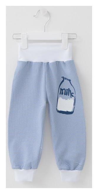 Штанишки Milk, цвет синий/полоска, рост 86 Мой малыш
