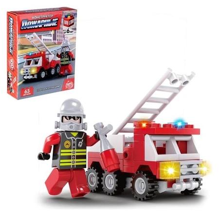 Конструктор пожарные «Пожарная машина», 63 детали  Unicon