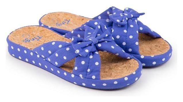 Тапочки женские, цвет голубой, размер 36 Tingo