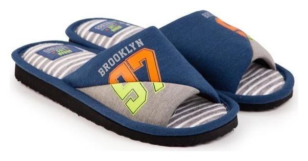 Тапочки мужские, цвет синий, размер 36 Tingo