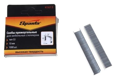 Скобы Sparta, 10 мм, для мебельного степлера, тип 53, 1000 шт.  Sparta