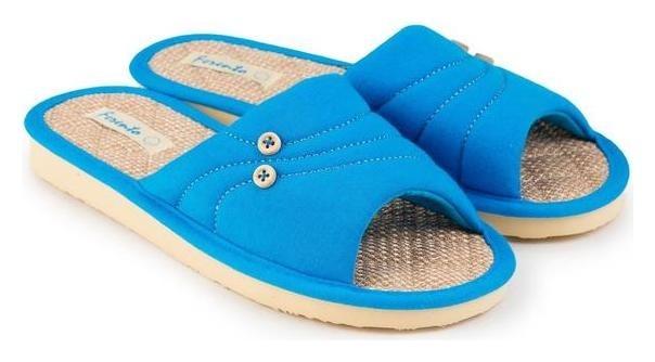 Тапочки женские, цвет голубой, размер 37  Tingo