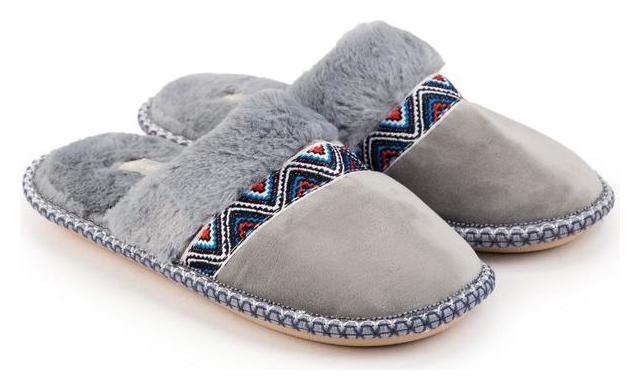 Тапочки женские, цвет серый, размер 39 Tingo