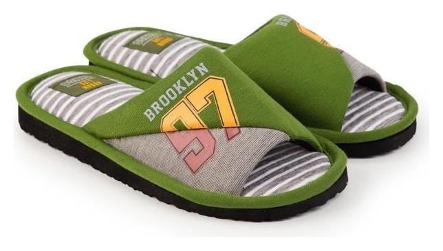 Тапочки мужские, цвет зелёный, размер 40  Tingo