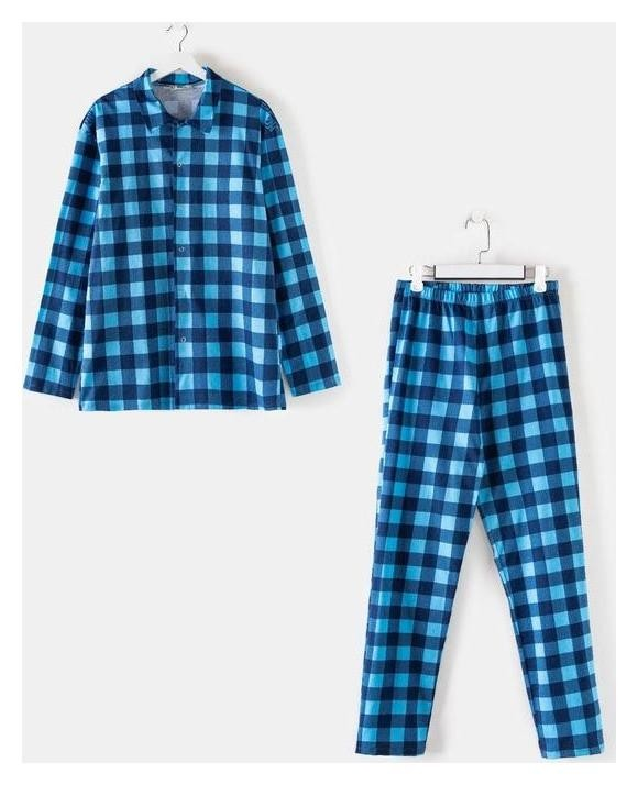 Комплект (Рубашка, брюки) мужской «Креатив» цвет синий, размер 50  Марис