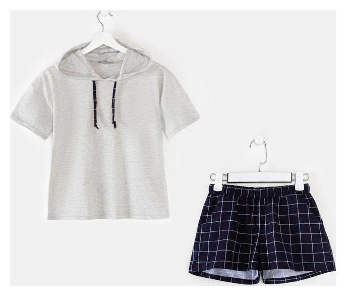 Комплект (Футболка, шорты) женский «Идилия» цвет серый, размер 44  Марис