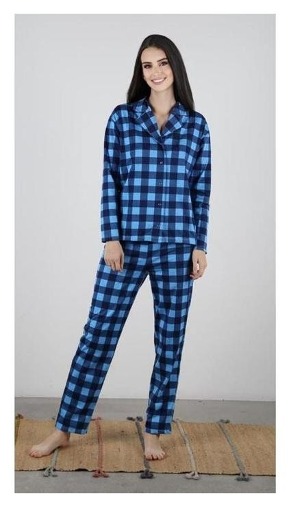Комплект (Рубашка, брюки) женский «Магия» цвет синий, размер 44 Марис