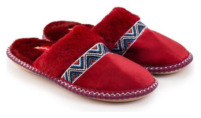 Тапочки женские, цвет бордовый, размер 41 Tingo