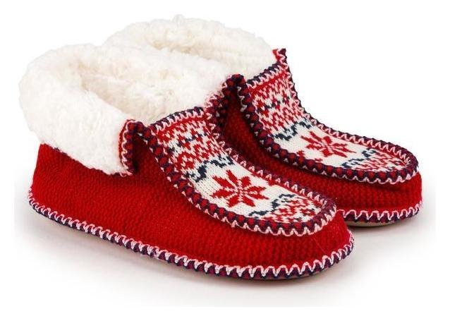 Тапочки женские, цвет красный, размер 38 Tingo