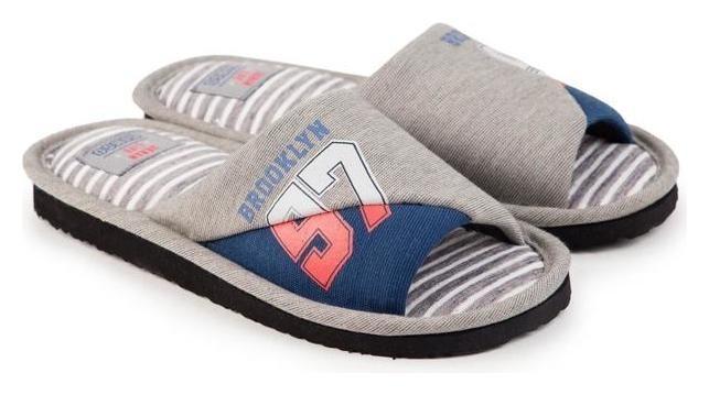 Тапочки мужские, цвет серый, размер 39  Tingo