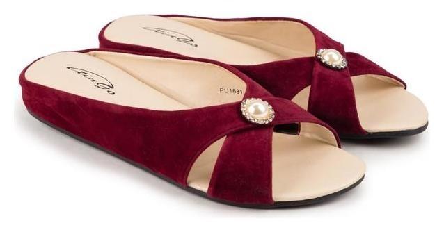 Тапочки женские, цвет бордо, размер 40 Tingo