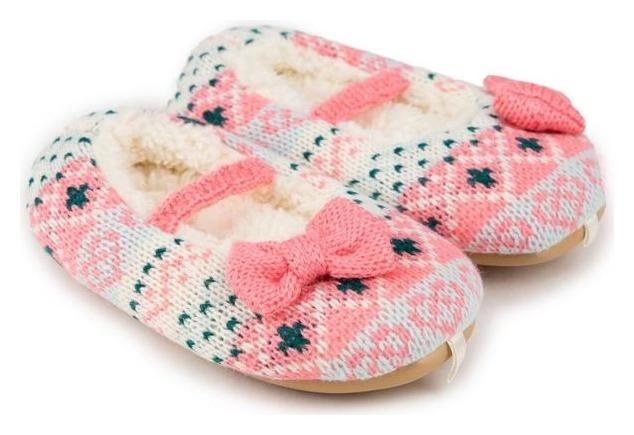 Тапочки детские, цвет розовый, размер 25 Tingo