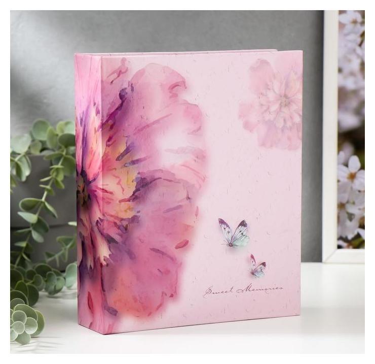 Фотоальбом Цветы и бабочки на 200 фото 10х15 см. 18,5х5х23см. ПП карм. NNB