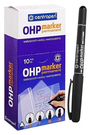 Маркер Centropen 2637 для Ohp, перманентный, 1.0 мм, чёрный  Centropen
