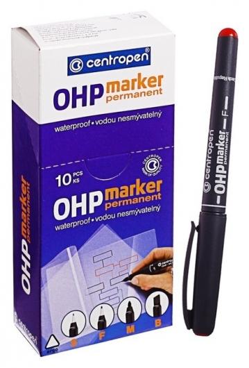 Маркер Centropen 2636 для Ohp, перманентный, 0.6 мм, красный  Centropen