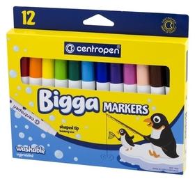 Фломастеры Bigga Markers, 12 цветов, линия 1 мм  Centropen