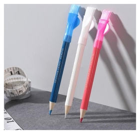 Карандаш для ткани с щёткой, 3 шт, цвет белый, розовый, синий  NNB