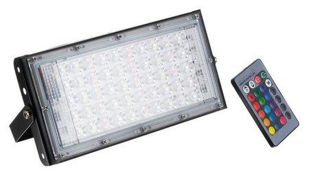 Прожектор светодиодный модульный Luazon Lighting, Rgb, с пультом, 50вт, Ip65, 220в черный  LuazON