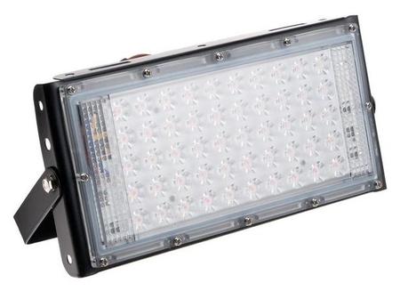 Прожектор фито светодиодный модульный Luazon Lighting, для растений, 50вт, Ip65, 220в черный  LuazON