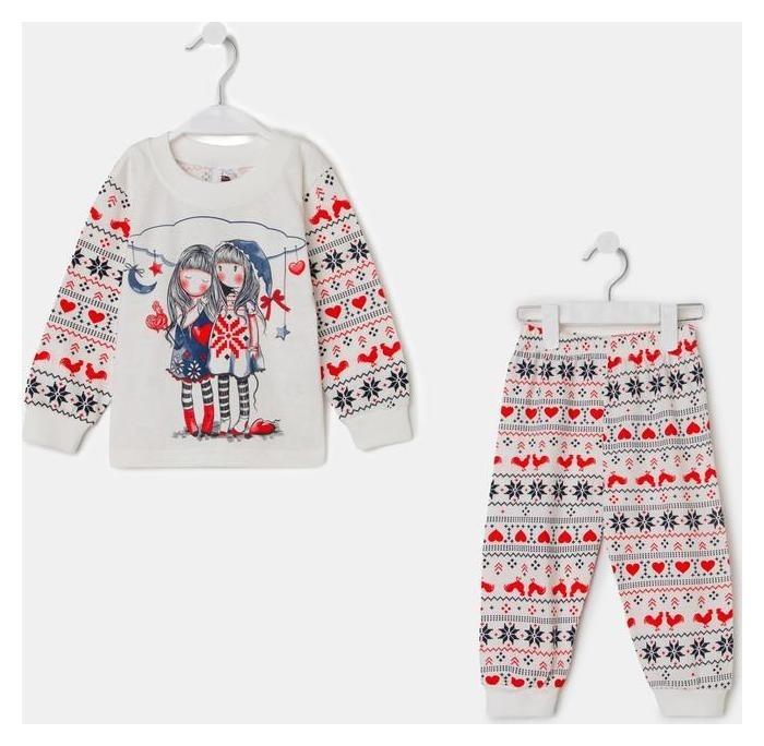 Пижама для девочки, цвет белый, рост 86 см Клеопатра-Стиль