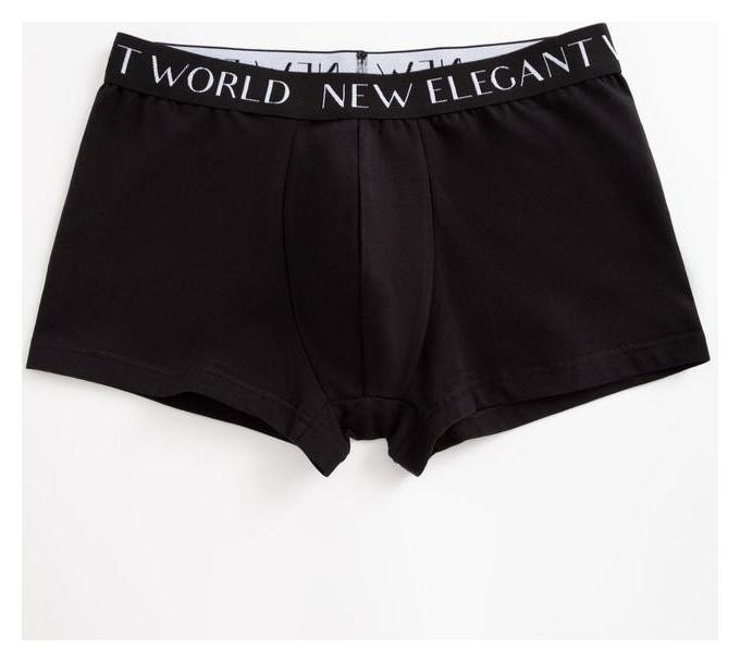 Трусы мужские боксеры, цвет чёрный, размер 50  New Elegant