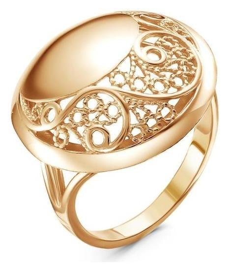 Кольцо Витраж, позолота, 20,5 размер Красная пресня