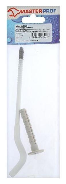 Кронштейн для радиатора Masterprof, с дюбелем, 7х220 мм, сплющенный, белый  MasterProf