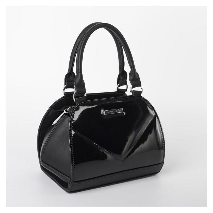 Сумка женская, отдел на молнии, наружный карман, длинный ремень, цвет чёрный El masta