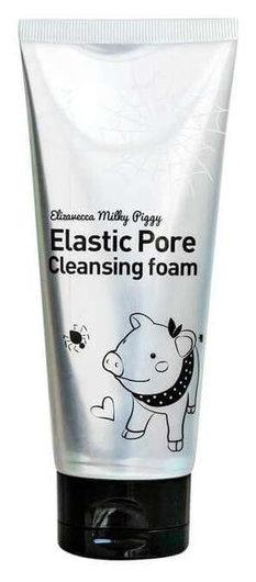 Пенка-маска для умывания черная Elastic Pore Cleansing Foam  Elizavecca