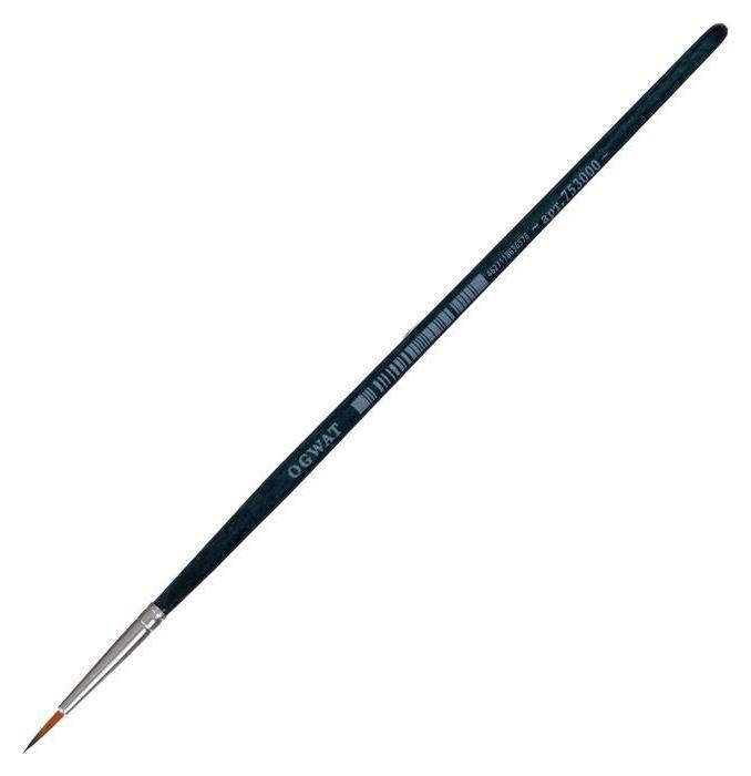 Кисть синтетика круглая Malevich Andy № 0 D-0.75мм L-6мм (Корот ручка) син лак 753000 Малевичъ
