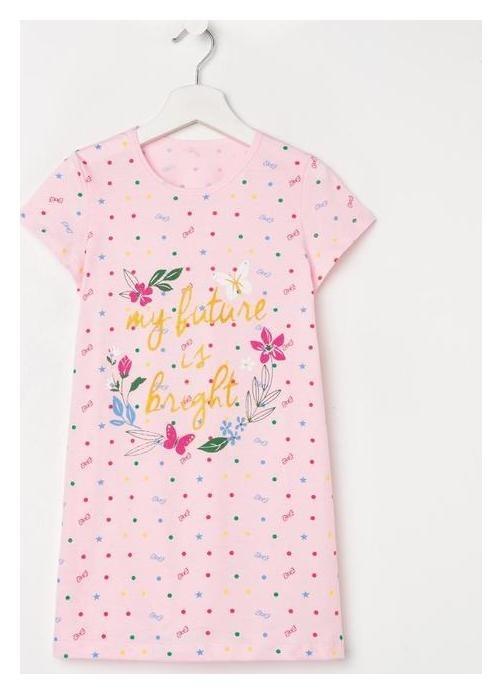 Сорочка для девочки, цвет розовый, рост 116-122 см NNB