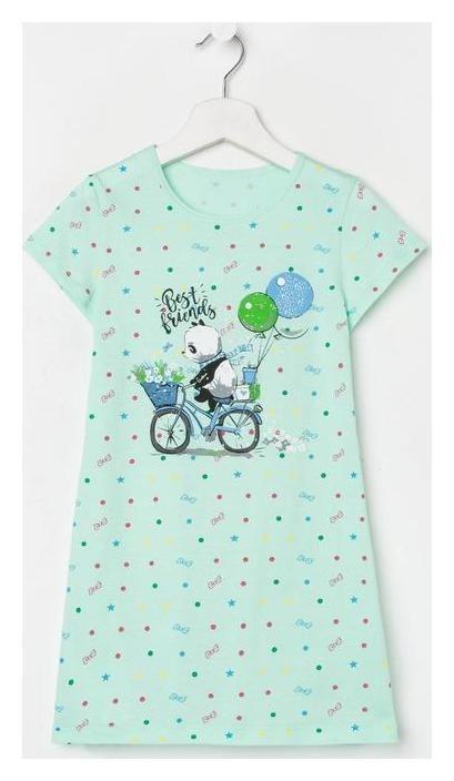 Сорочка для девочки, цвет мята, рост 134-140 см NNB