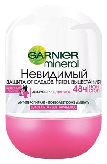 "Дезодорант-антиперспирант женский шариковый невидимый ""Mineral""  Garnier"