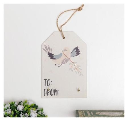 Крючки декоративные Птичка и снежинки 15х10х1,5 см NNB
