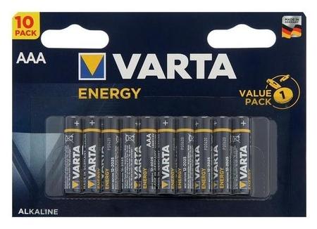 Батарейка алкалиновая Varta Energy, Aaa, Lr03-10bl, 1.5в, блистер, 10 шт.  Varta