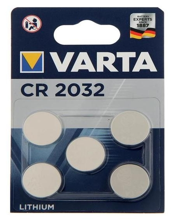 Батарейка литиевая Varta, Cr2032-5bl, 3В, блистер, 5 шт.  Varta