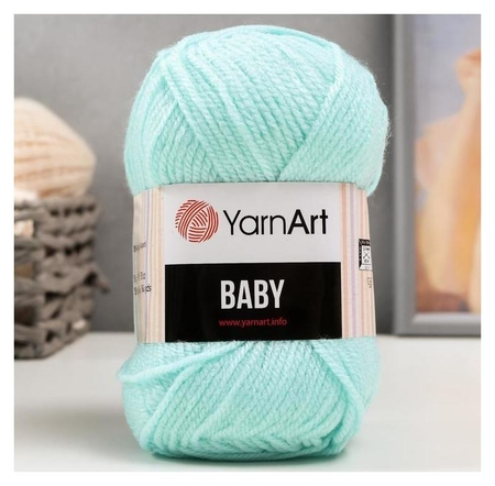 Пряжа Baby 100% акрил 150м/50гр (856 св. бирюза) YarnArt